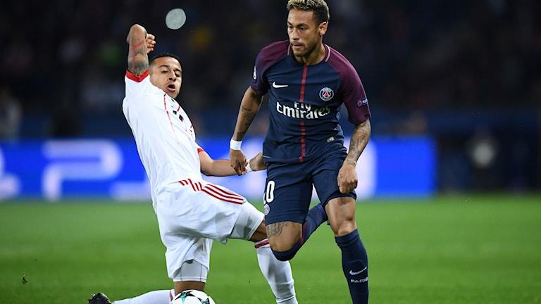 2018 Neymar mot Bayern München. Foto: Franck Fife/TT