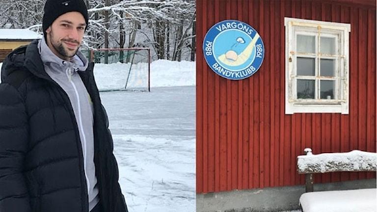Hammarbyspelaren Christoffer Fagerström visar Vargön där karriären började