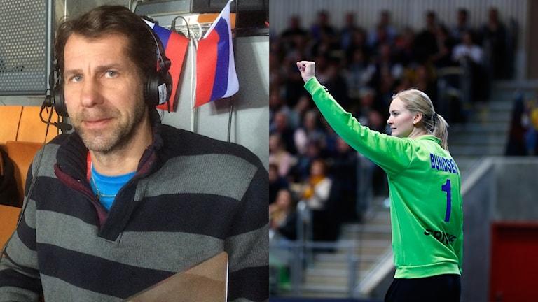 Radiosportens expert Magnus Wislander håller Johanna Bundsen som förstemålvakt.