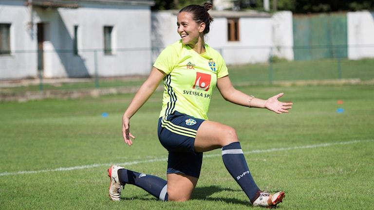 """Marija """"Maredinho"""" Banusic är glad över att vara i landslaget."""