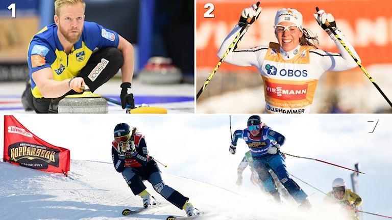 Lag Niklas Edin, Charlotte Kalla och Sandra Näslund är några av Sveriges största medaljhopp i OS.
