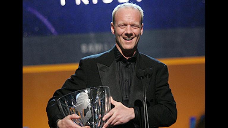 STOCKHOLM 20060116 Sportradions Jerringpris gick till Tony Rickardsson. Priserna för de bästa svenska idrottsinsatserna under 2005 delades ut vid den årliga Idrottsgalan på Globen i Stockholm på måndagskvällen. Photo: JONAS EKSTRÖMER