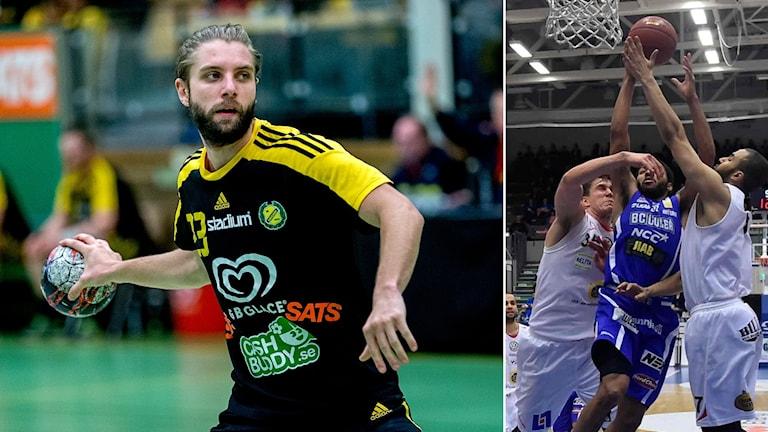 Sävehofs Viktor Ottosson och Luleås Brandon Rozzell.