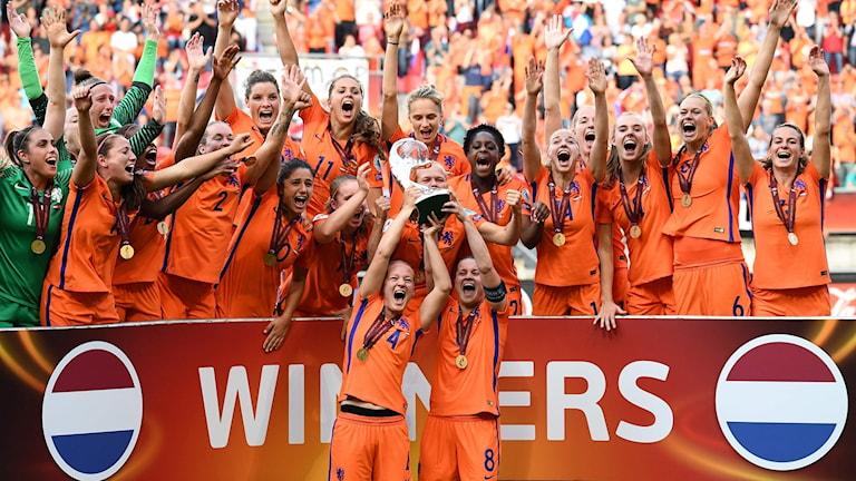 Nederländerna vann EM-finalen mot Danmark.