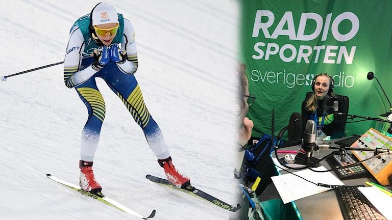 Stina Nilsson besöker Radiosportens OS-studio.