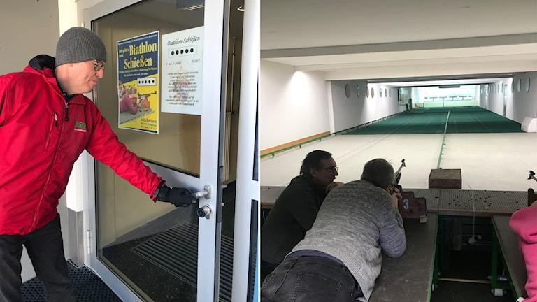 Radiosporten besökte den lokala skyttehallen som fått svenskt besök.