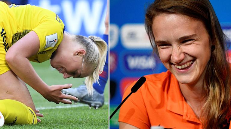 Vivianne Miedema tycker att hennes lag varit bättre än Sverige så här långt.