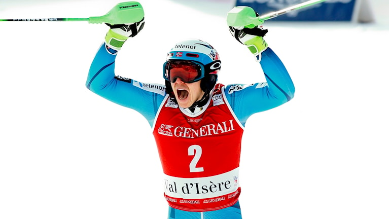 Henrik Kristoffersen vann i Val d'Isere.