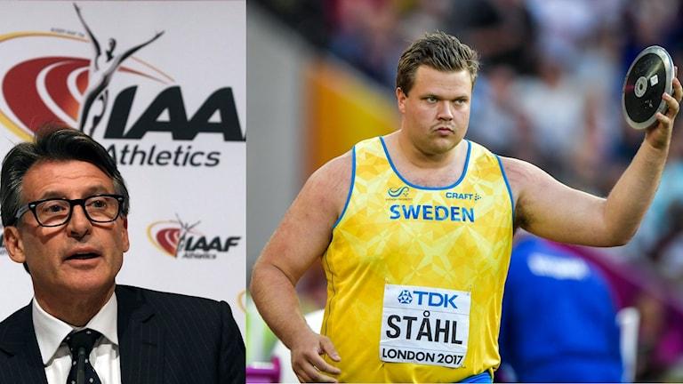 Collage Sebastian Coe och Daniel Ståhl. Foto: TT