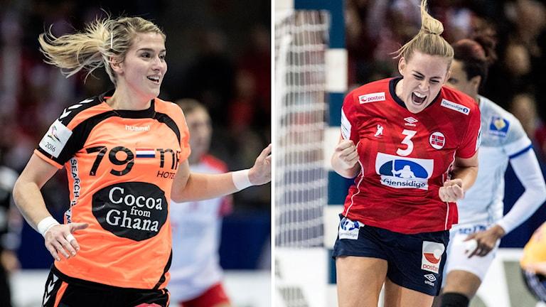 Från vänster: Nederländernas Estavana Polman och Norges Emilie Hegh Arntzen.