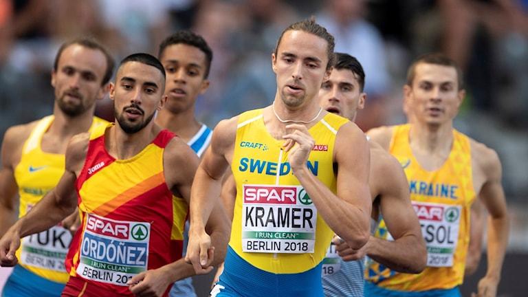 Andreas Kramer under EM-semifinalen.
