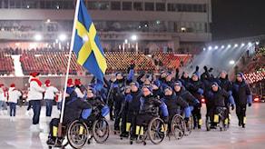 Den svenska truppen till Paralympics i Pyeongchang.