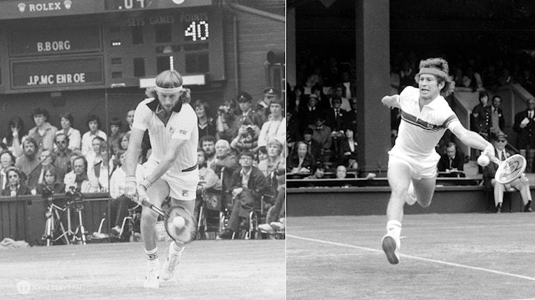 Collage Wimbledon 1980 Borg McEnroe