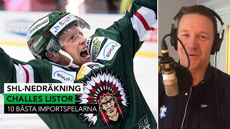Ryan Lasch i Frölunda toppar Challes lista. Foto: TT och SR