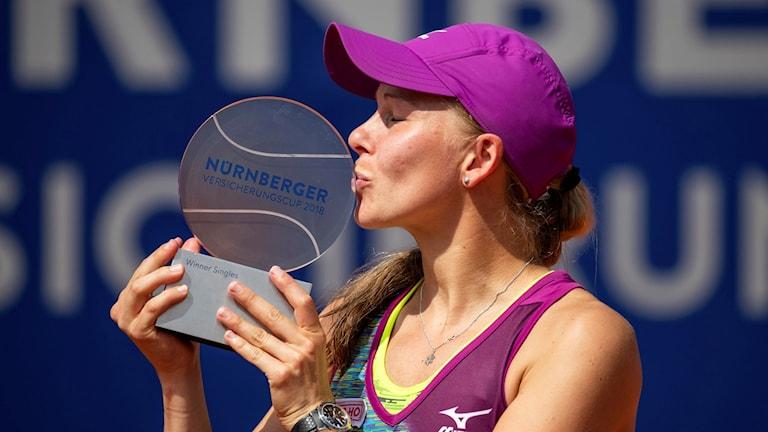 Larsson med andra WTA-titeln.