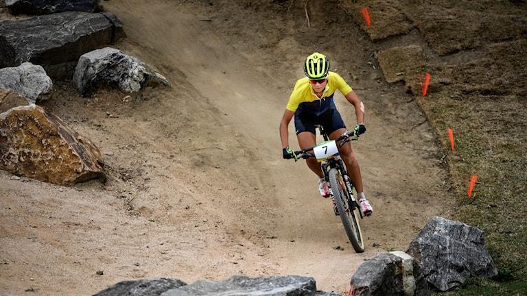 Jenny Rissveds vann OS-guld i fjol men tävlar inte på VM.