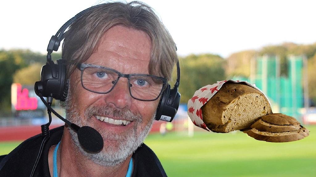 Patric Ljunggren och bröd. Foto: SR och TT