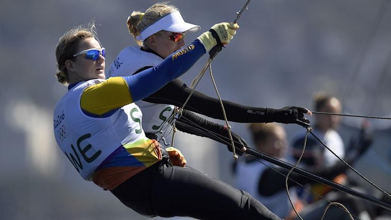 Lisa Ericson och Hanna Klinga under OS