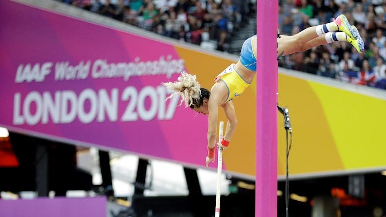 Angelica Bengtsson stannade på 4,55 i finalen.