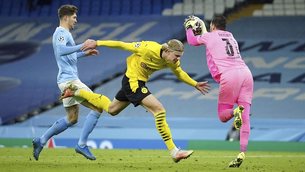 Erling Haaland Dortmund Manchester City. Foto: Dave Thompson/AP