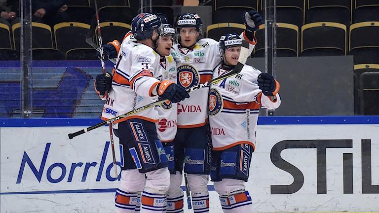 Växjöjubel efter 2–0 i andra finalen mot Skellefteå.