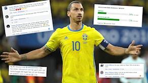 Det 'r m[nga som tycker att Zlatan Ibrahimovic inte ska spela i VM.