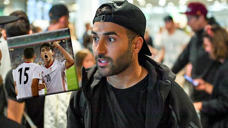 Saman Ghoddos har nyss varit på landslagssamling med det iranska laget.