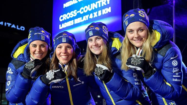 Anna Haag, Charlotte Kalla, Ebba Andersson och Stina Nilsson.