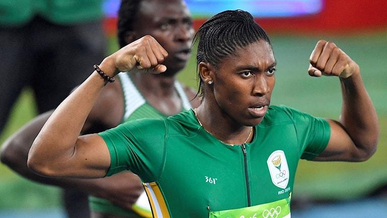 Semenya efter segern på 800 meter.