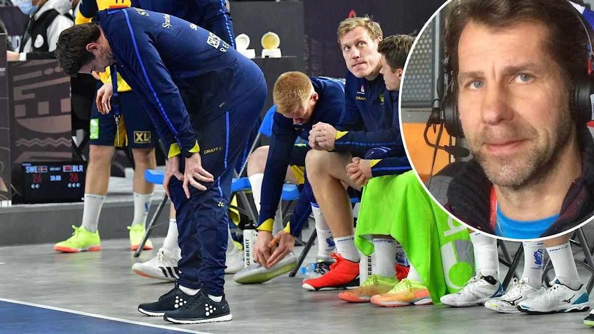 Svenskt depp efter oavgjort mot Belarus och Magnus Wislander.