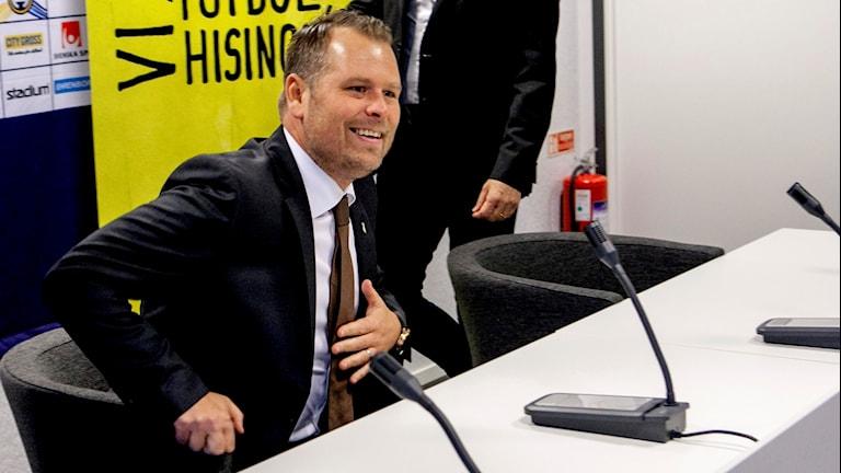 4 Mikael Stahre tar över som ny tränare i BK Häcken. Han presenterades under en pressträff i Göteborg under måndagen.