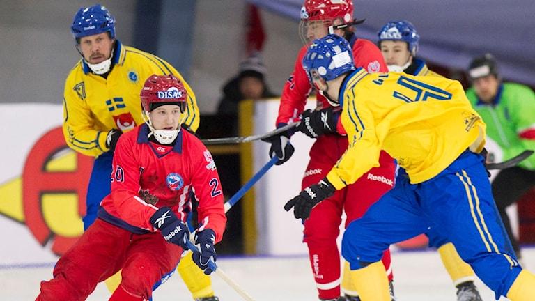 Arkivbild: Sverige-Ryssland.