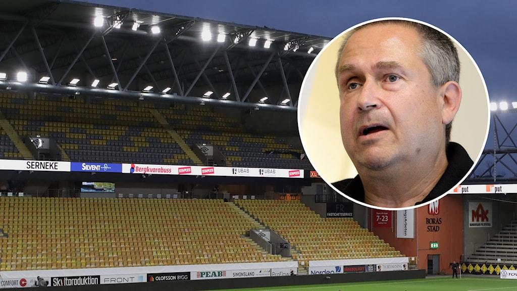 Tomma fotbollsläktare / Mats Enquist.
