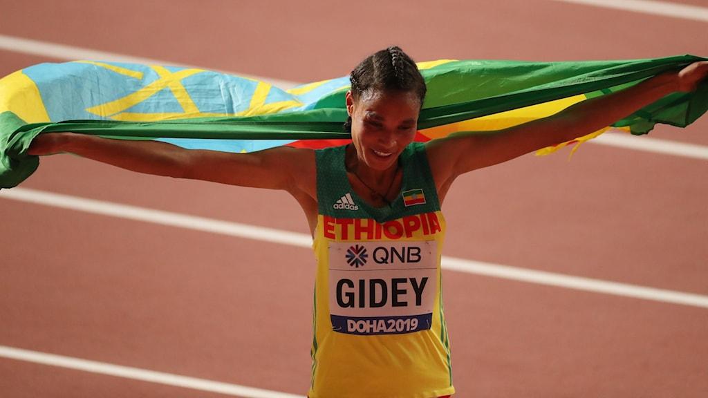 Gidey med världsrekord på 10 000 meter.