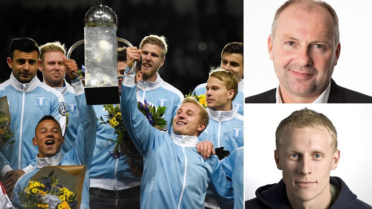 Malmö FF vinner SM-guld tror båda experterna.
