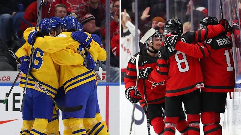 Sverige mot Kanada i JVM-final.