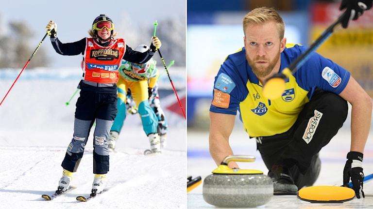 Sandra Näslund och Niklas Edin.
