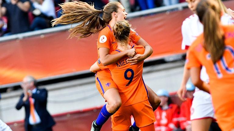 Nederländerna firar EM-guldet.