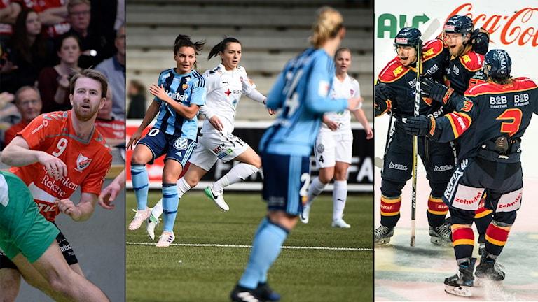 Guif, Djurgården (damallsvenskan), Rosengård och Djurgården (SHL) är några av lagen som kommer att figurera i söndagens Sportextra.