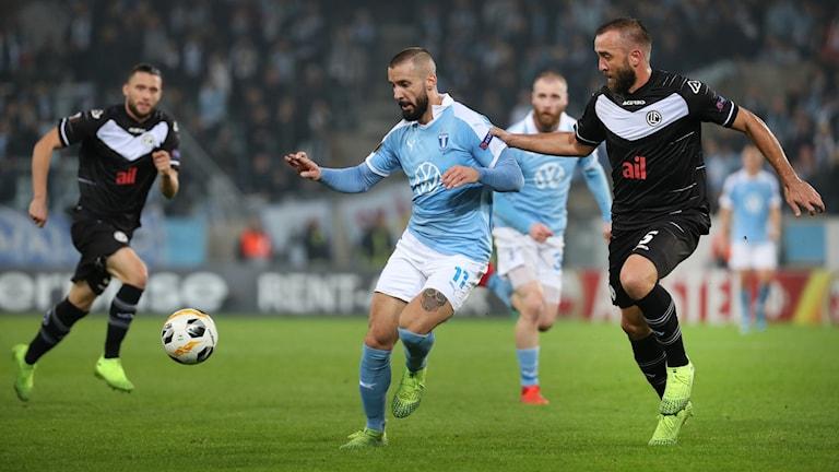 Malmö mot Lugano i Europa League.