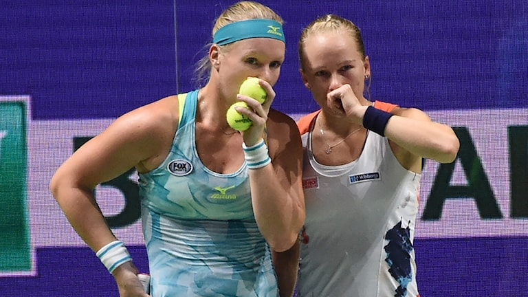 Kiki Bertens och Johanna Larsson förlorade finalen i WTA-slutspelet.
