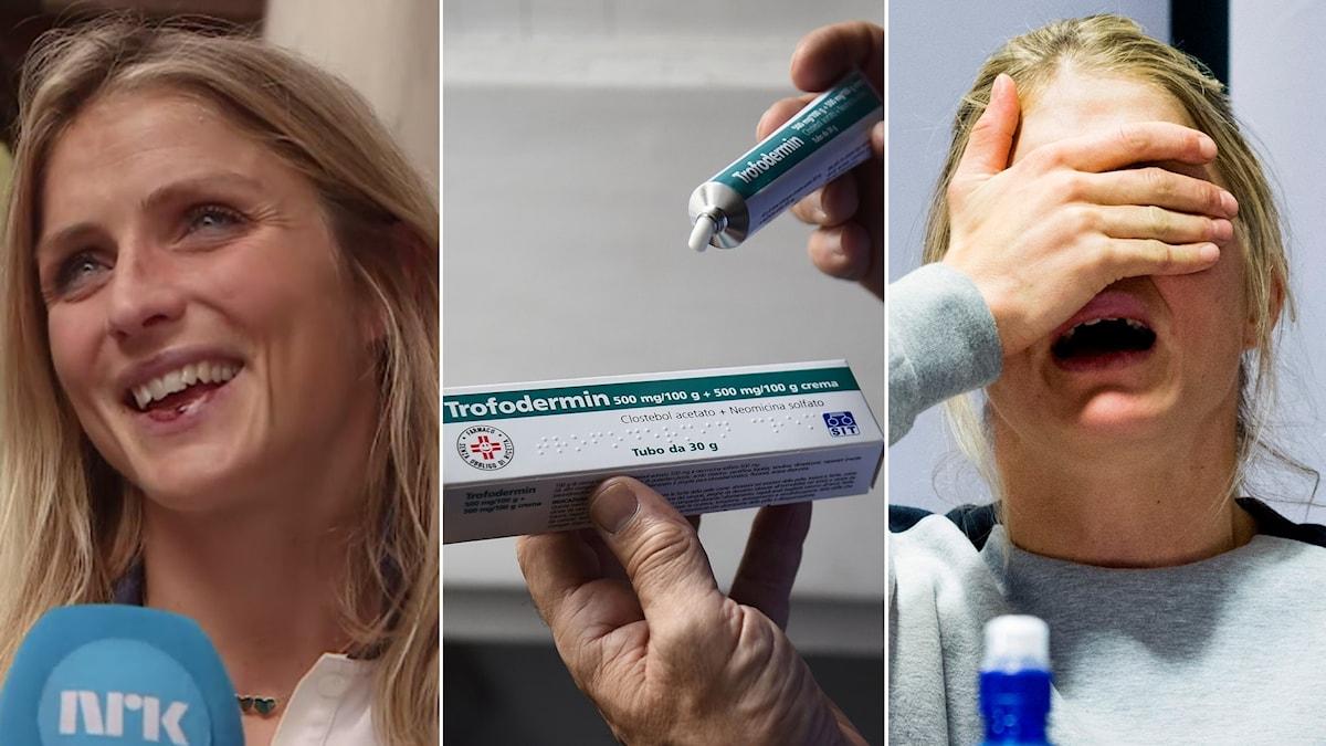 Therese Johaug tog läppsalva – fast för dopning.