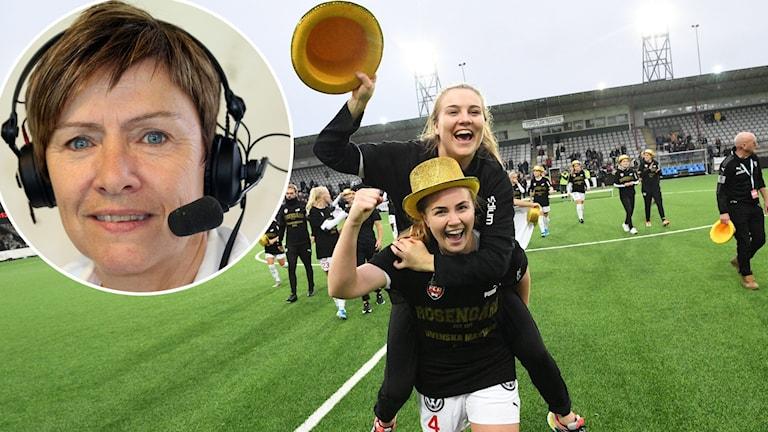 Expert Anette Börjesson och Rosengårdsjubel.