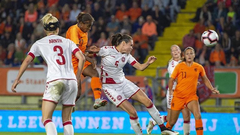 Nederländerna mot Danmark.