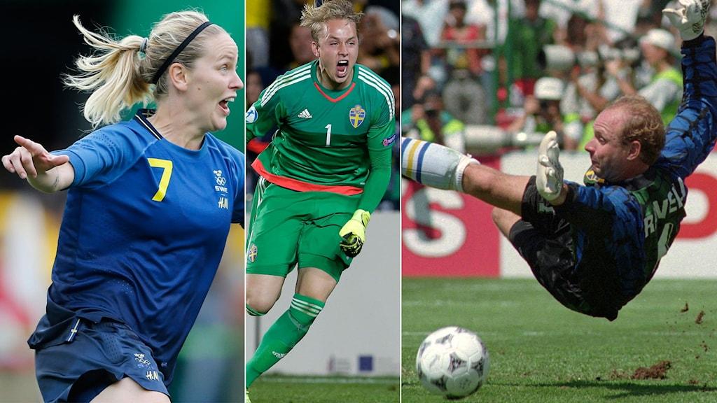 Lisa Dahlkvist, Patrik Carlgren och Thomas Ravelli har legat bakom några klassiska svenska fotbollsögonblick.