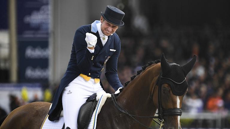 Patrik Kittel på hästen Well Done.