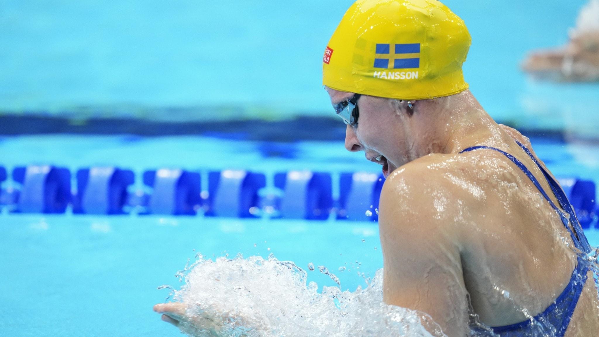 Sophie Hansson missade OS-final på 200 meter bröstsim