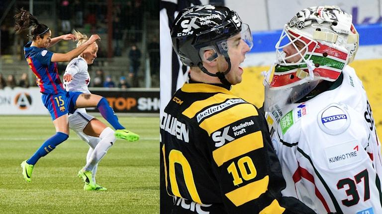 Rosengård möter Barcelona i Champions League och Frölunda och Skellefteå gör upp i kvartsfinal.