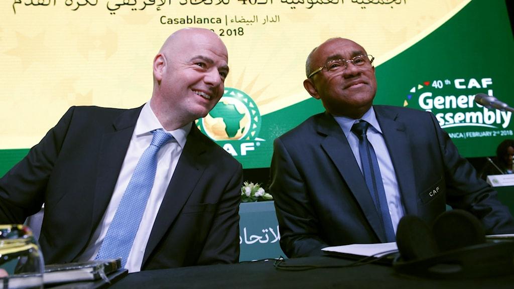 Gianni Infantino och Ahmad Ahmad