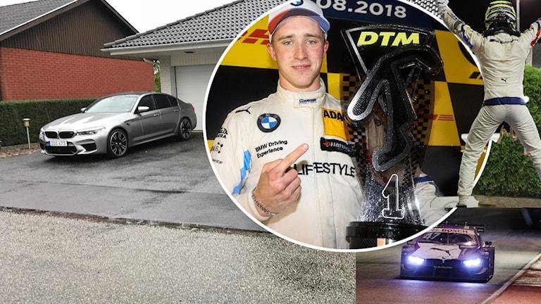 Joel Eriksson har sin bas i skånska Tomelilla, men tävlar i DTM-serien Europa runt.